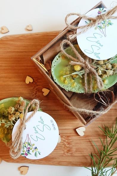 Bridalook - Altın Otlu Çimen Yeşili Sabunlar