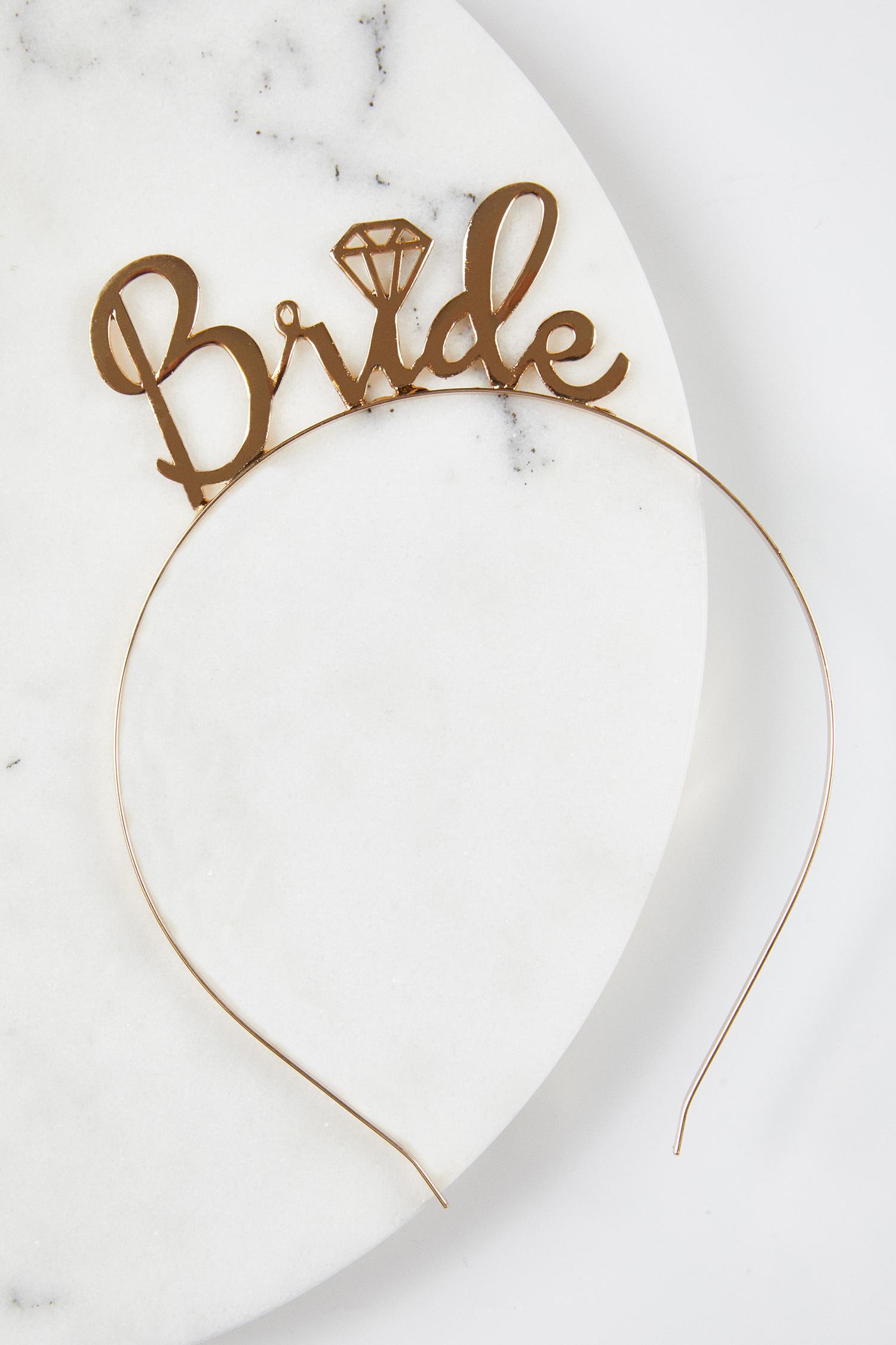 Altın Rengi Bride Tacı