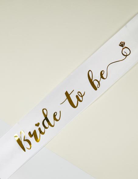OLEG CASSINI TR - Altın Rengi Bride to Be Yazılı Bekarlığa Veda Kuşağı
