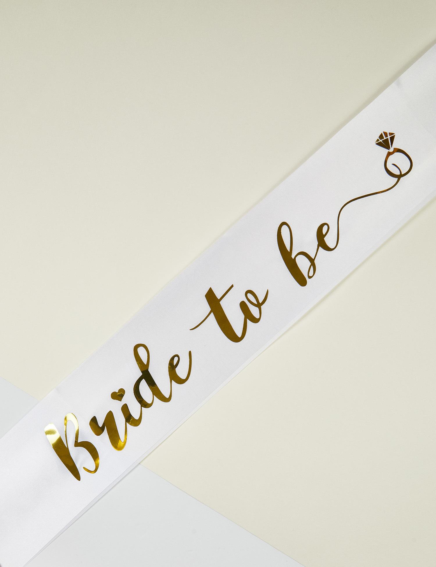 Altın Rengi Bride to Be Yazılı Bekarlığa Veda Kuşağı