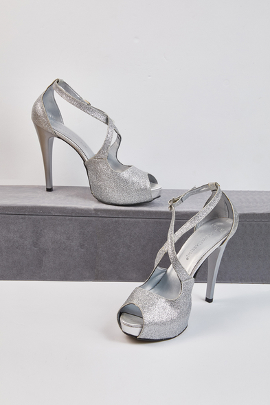 OLEG CASSINI TR - Grace Gümüş Tek Bantlı Abiye Ayakkabı