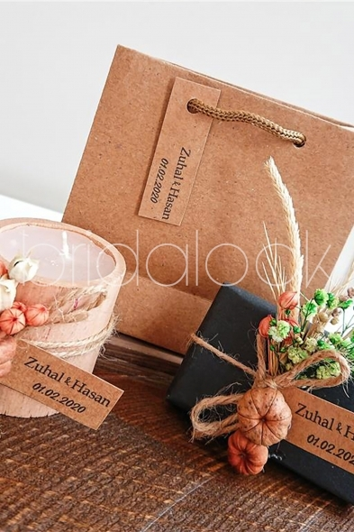 Bridalook - Bal Kabağı Süslemeli Set