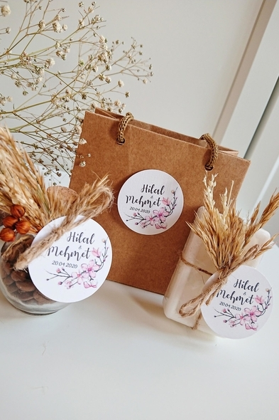 Bridalook - Başaklı Kahve & Sabun Set