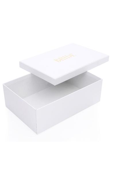SK Organizasyon & Tasarım - Beyaz Bride Yazılı Kutu