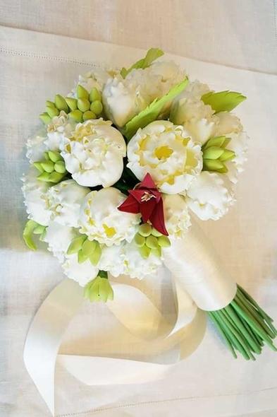 Beyaz Yapay Gelin Çiçeği - Oleg Cassini