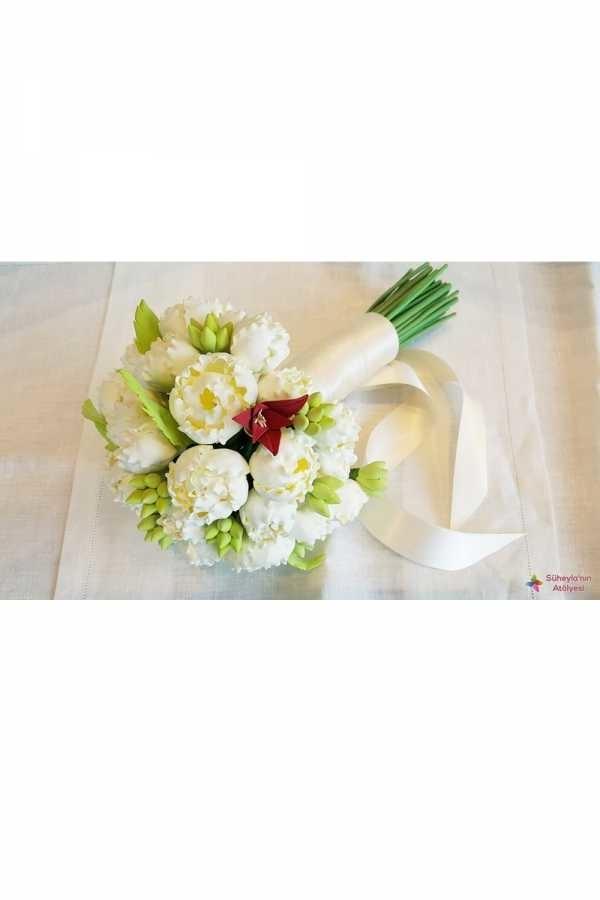 Süheylanın Atölyesi - Beyaz Yapay Gelin Çiçeği
