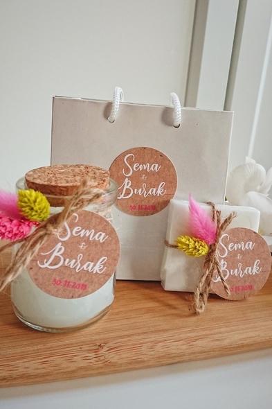 Bridalook - Beyaz Mum & Sabun Set