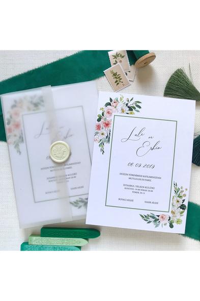 Paprika Design - Blush and Green Davetiye
