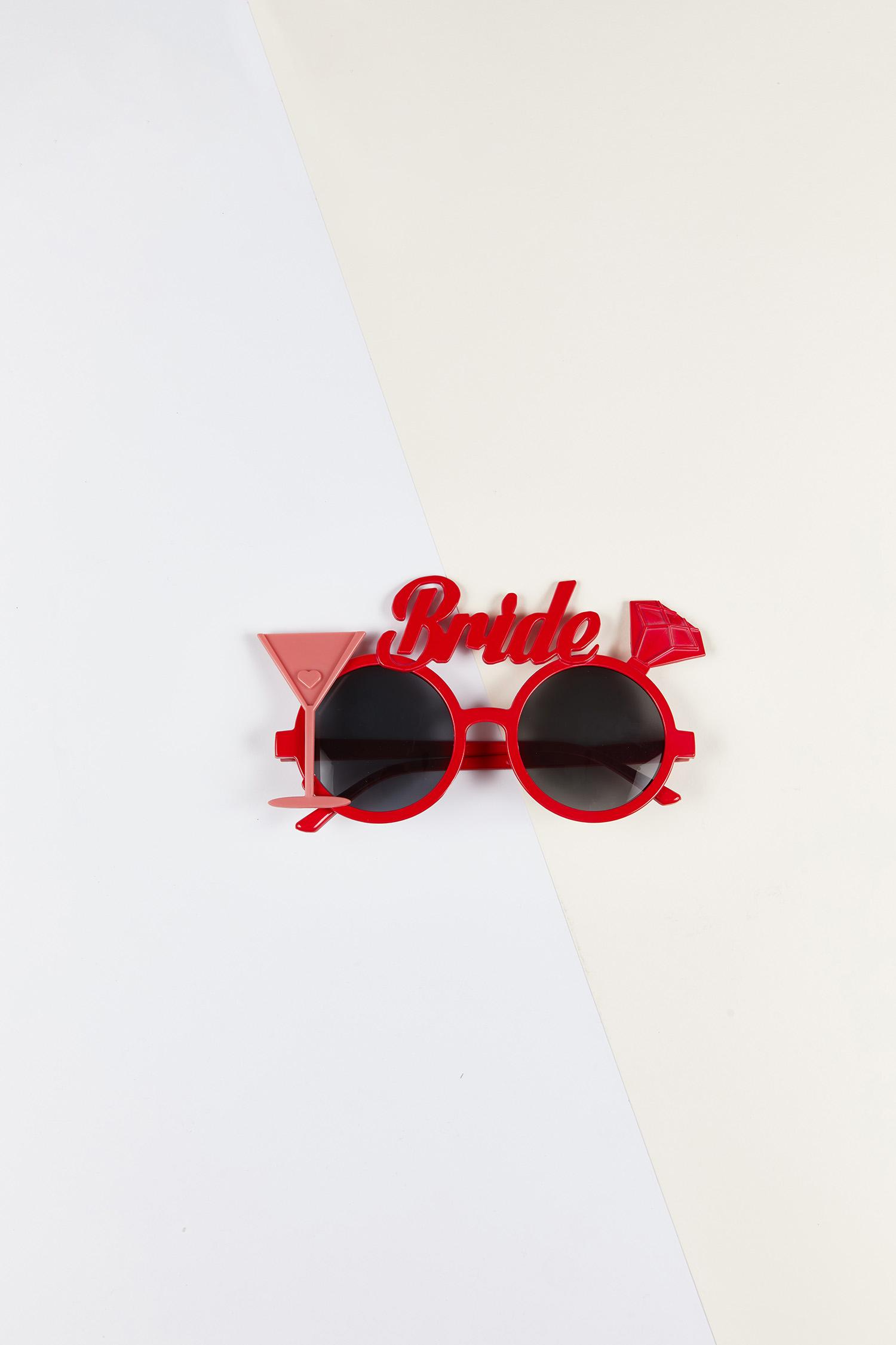 Bride Gözlüğü Kırmızı Çerçeveli - Thumbnail
