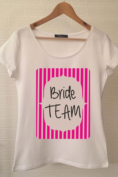 Bride Team T-shirt ukde68 - Oleg Cassini
