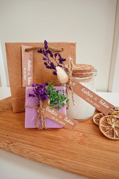 Bridalook - Büyük Mum & Sabun Set