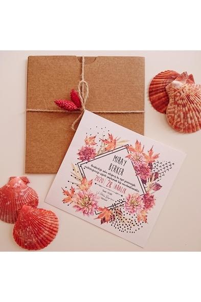 Bridalook - Çiçek Patlaması Davetiye