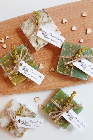 Bridalook - Çift Renk Lavanta Sabun Yeşil & Beyaz