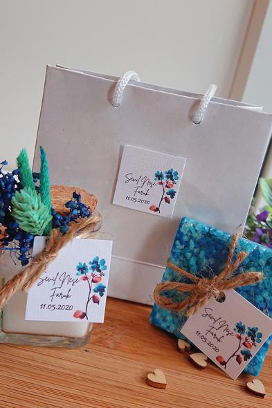Bridalook - Deniz Tuzu Sabun ve Mum Set