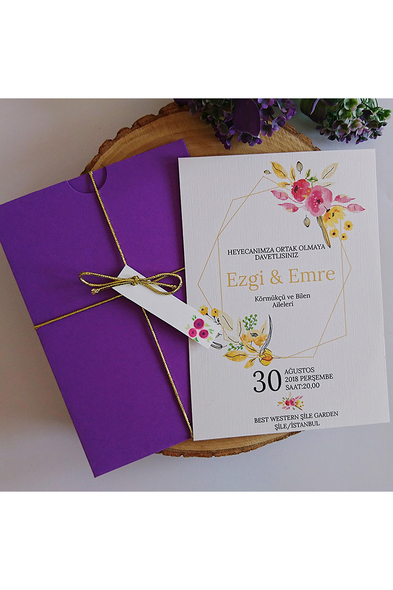 Bridalook - Floral davetiye