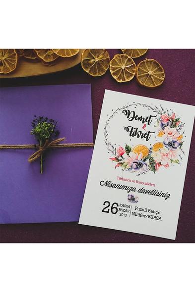 Bridalook - Flower Ring Davetiye