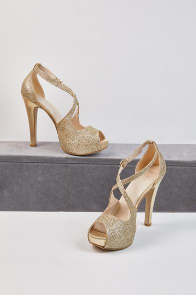 OLEG CASSINI TR - Grace Altın Tek Bantlı Abiye Ayakkabı