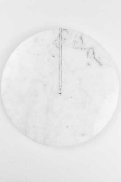 Oleg Cassini - Gümüş Rengi Abiye Kolye ve Küpe Seti (1)