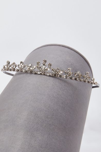 Oleg Cassini - Gümüş Kristalli Prenses Gelinlik Tacı