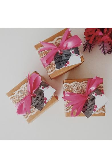 Bridalook - İpek Kurdeleli Draje Badem Şekeri Kutuları