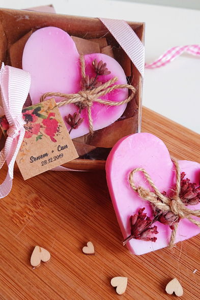 Bridalook - Kalp Formlu Lavantalı Sabunlar