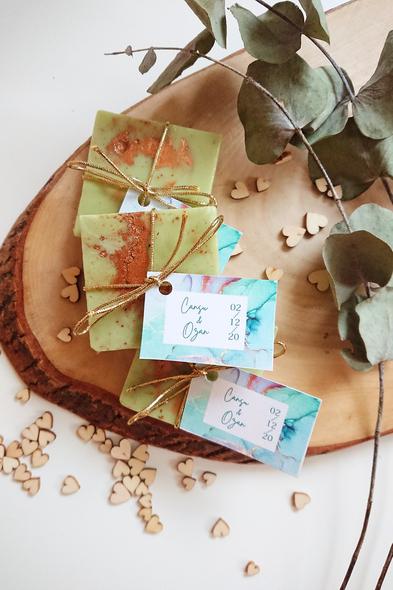 Bridalook - Karamel Desenli Yeşil Sabun