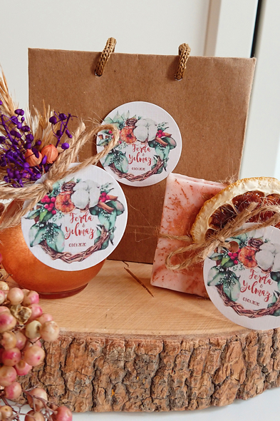 Bridalook - Karamel Sabun ve Kolonya Set