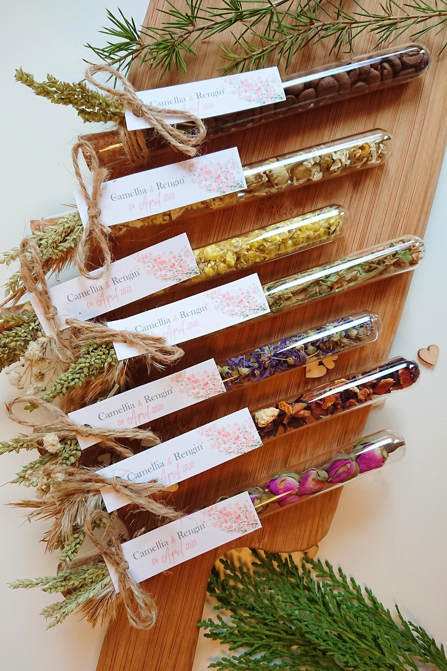 Karışık Bitki Çaylı & Kuru Çiçekli Tüpler