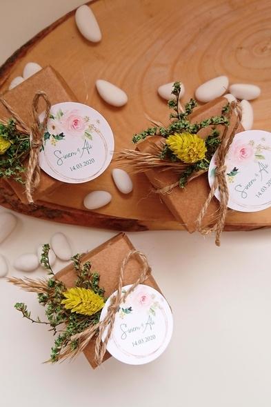 Bridalook - Kuru Çiçekli Badem Şekeri Kutuları