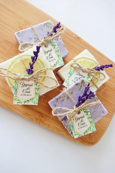 Bridalook - Kuru Limon ve Lavanta Detaylı Sabunlar