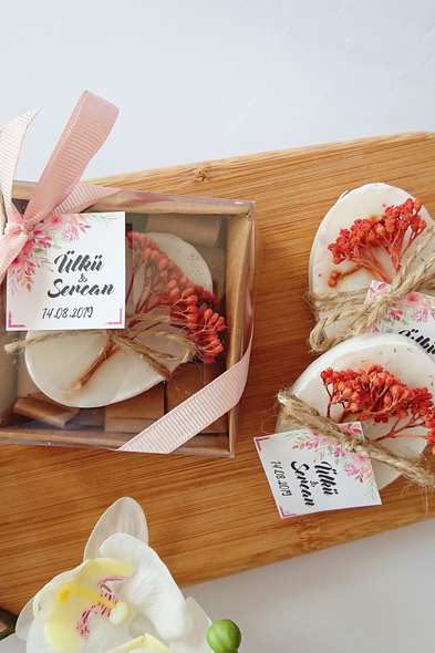 Bridalook - Kurutulmuş Çiçekli Rustik Sabun
