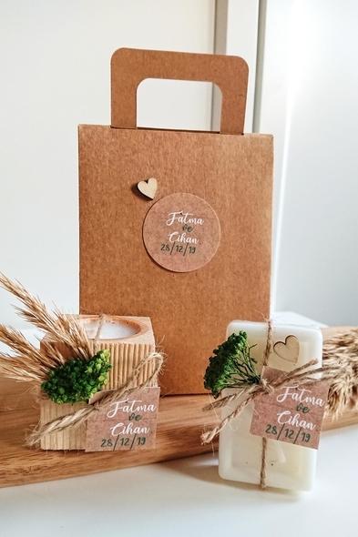 Bridalook - Kütük Mum & Sabun Set