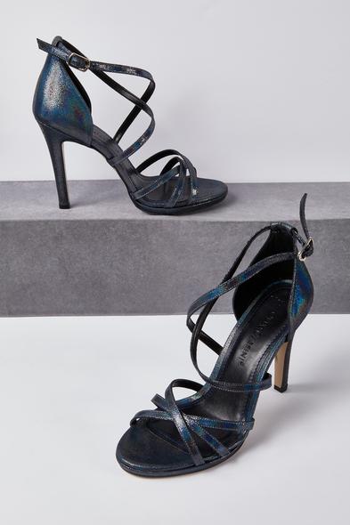 OLEG CASSINI TR - Lacivert İnce Bantlı Topuklu Abiye Ayakkabı