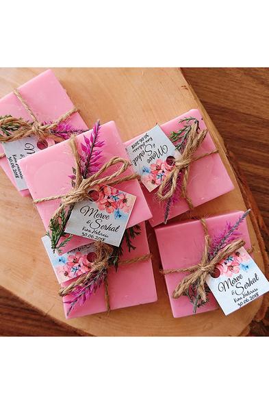 Bridalook - Lavanta Detaylı Pink Sabun