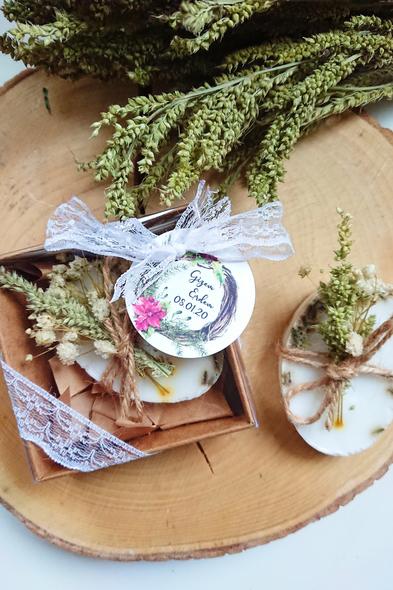 Bridalook - Lavanta ve Kuru Çiçekli Romantik Sabunlar