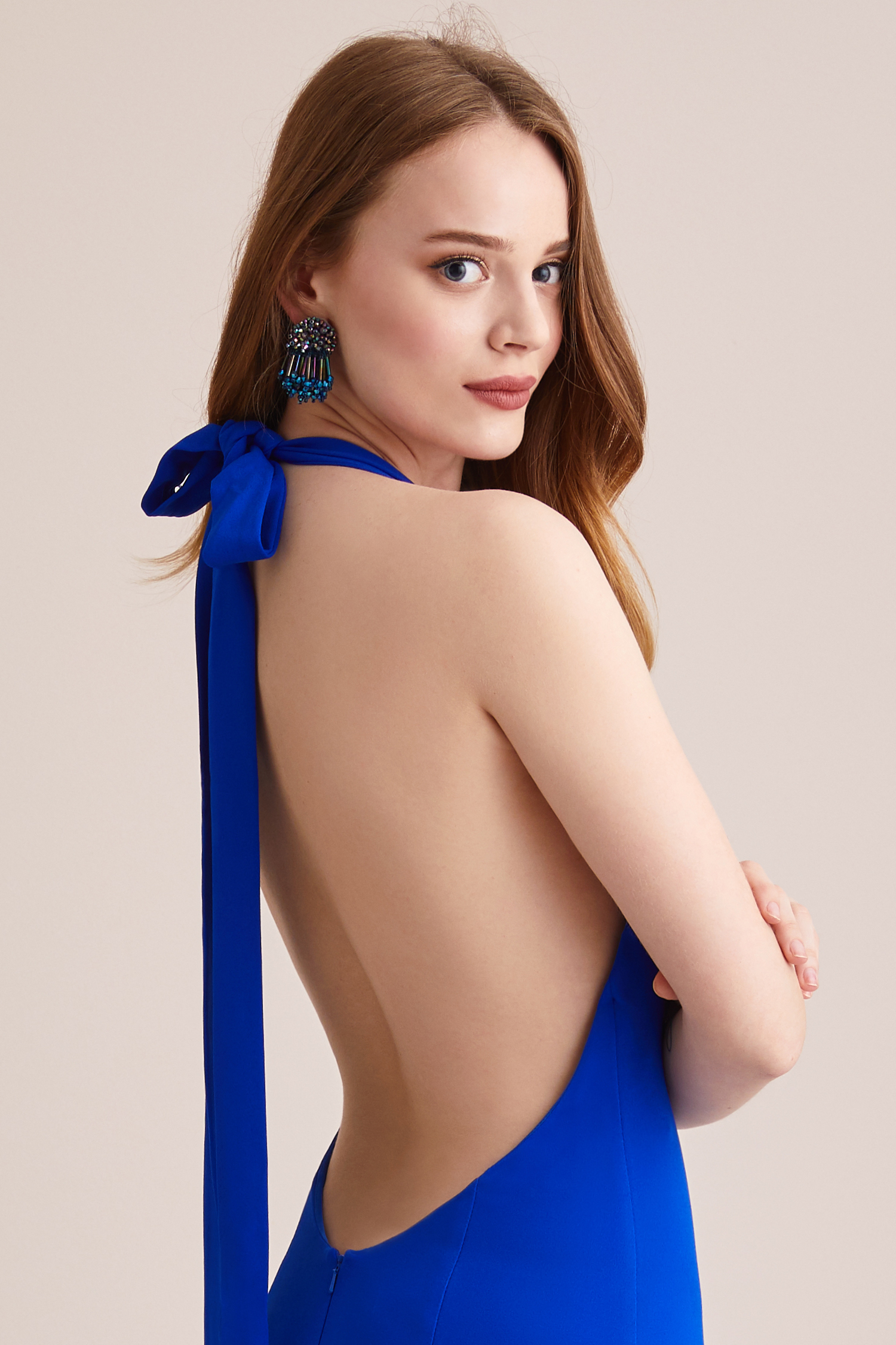 Mavi Taşlı Küpe