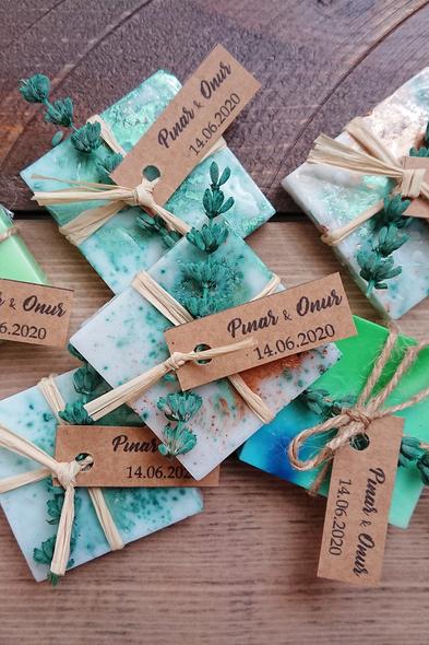 Bridalook - Mavi & Yeşil Blush Sabunlar