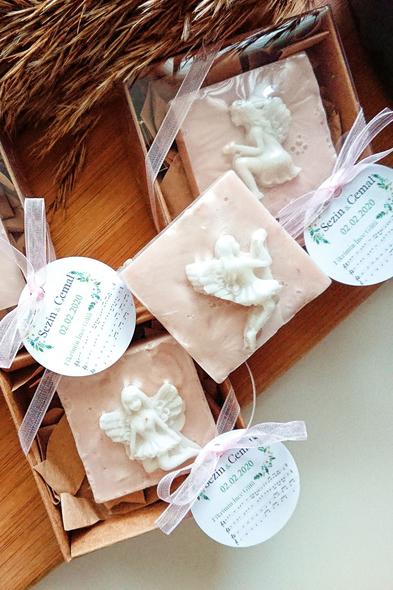 Bridalook - Melek Kabartmalı Kontrast Sabunlar