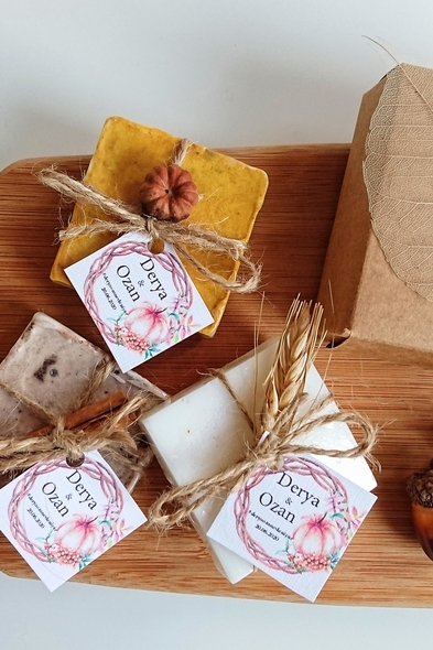 Bridalook - Minik Balkabaklı Kutuda Sabunlar