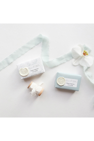 Save the Date - Minimalist Flower Sealed Soap / Mühürlü Sabun Nikah Hediyelik