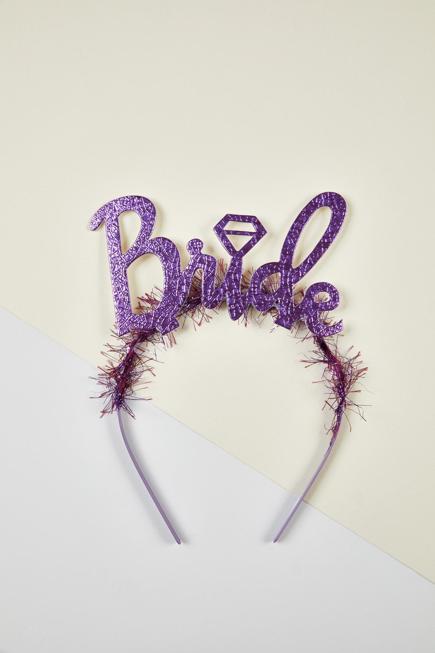 Mor Bride Yazılı Bekarlığa Veda Tacı