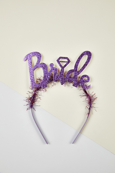 OLEG CASSINI TR - Mor Bride Yazılı Bekarlığa Veda Tacı