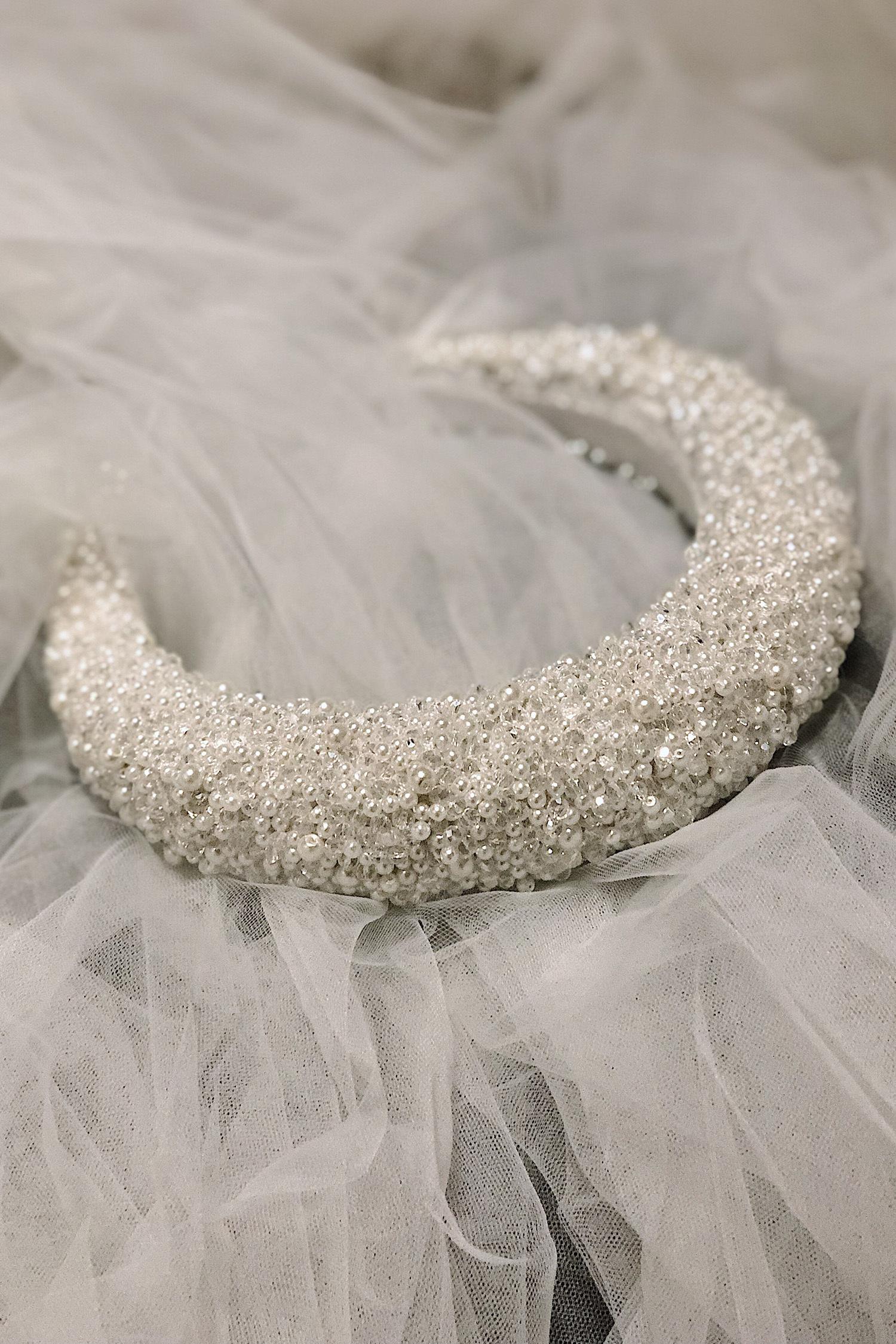 Pearl Petals Taç - Thumbnail