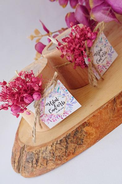 Bridalook - Pembe Temalı Kütük Mum