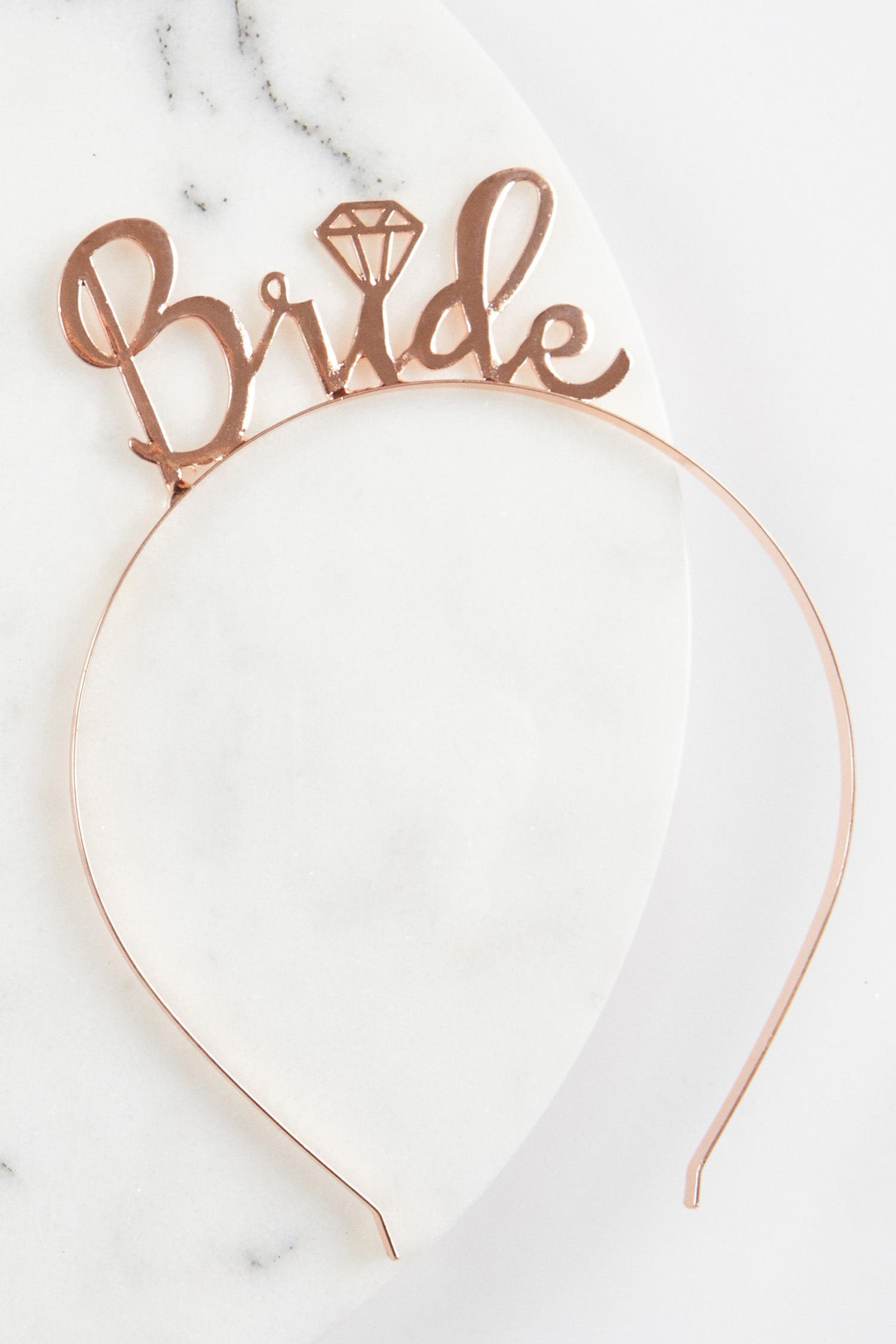 Rose Gold Bride Tacı