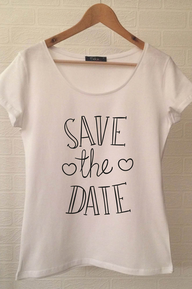 Save The Date T-shirt ukde66 - Oleg Cassini