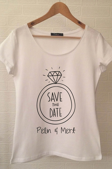 Save The Date T-shirt ukde67 - Oleg Cassini