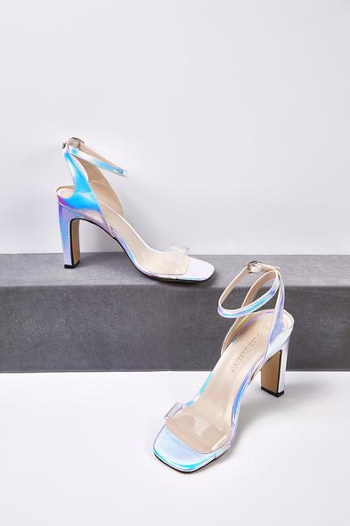 OLEG CASSINI TR - Şeffaf Bantlı Dolgu Topuklu Gelin Ayakkabısı
