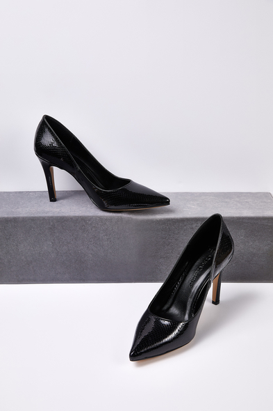 OLEG CASSINI TR - Siyah Klasik Topuklu Abiye Ayakkabısı