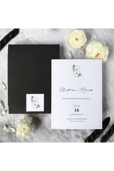 Paprika Design - Siyah ve Beyaz Davetiye